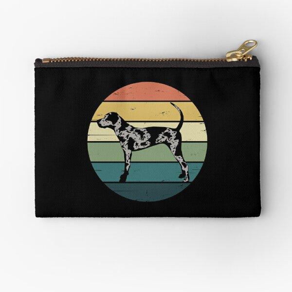 Retro Rainbow Catahoula Leopard Dog Zipper Pouch