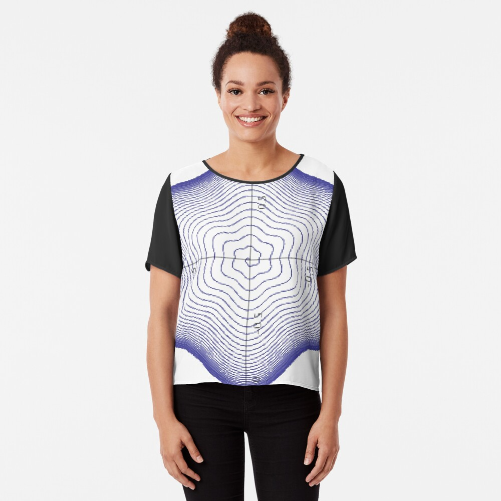 #Spiral, #twisting into the #star of #David Chiffon Top