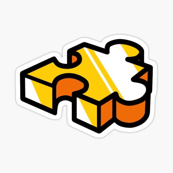 Banjo Kazooie Jiggywiggy Inspired Puzzle Piece Sticker Sticker