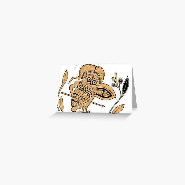 Hoplite Owl Greeting Card