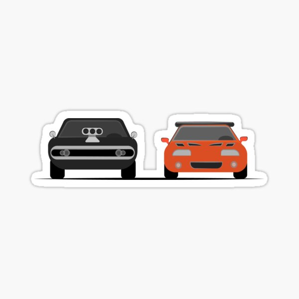 The Dodge Charger VS The Supra - Fast and Furious Sticker