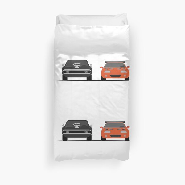 The Dodge Charger VS The Supra - Fast and Furious Duvet Cover