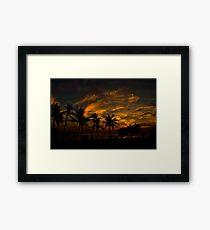 Sunset at Legian Framed Print