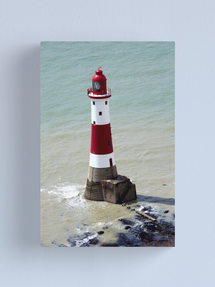 Alternate view of Beachy Head Lighthouse and the deep blue sea Canvas Print