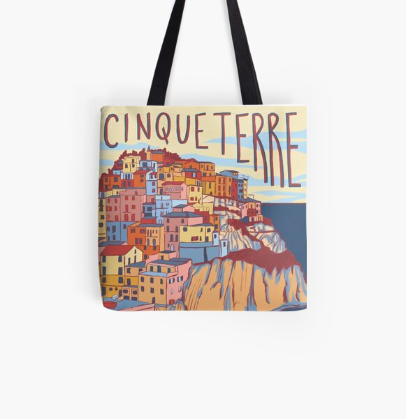 Cinque Terre, Italien Allover-Print Tote Bag
