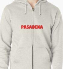 Pasadena GILL NOVA BOLD RED Zipped Hoodie