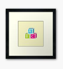 Colorful letter blocks Framed Print