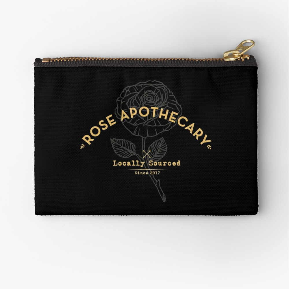 Dark Rose Apothecary Zipper Pouch