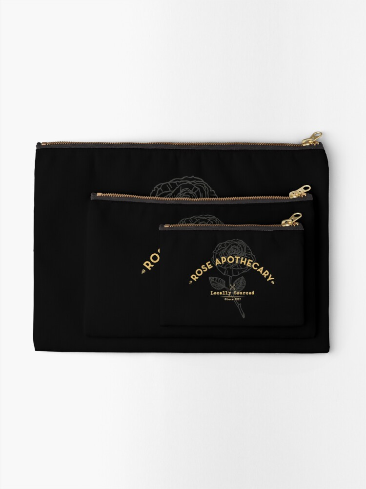 Alternate view of Dark Rose Apothecary Zipper Pouch