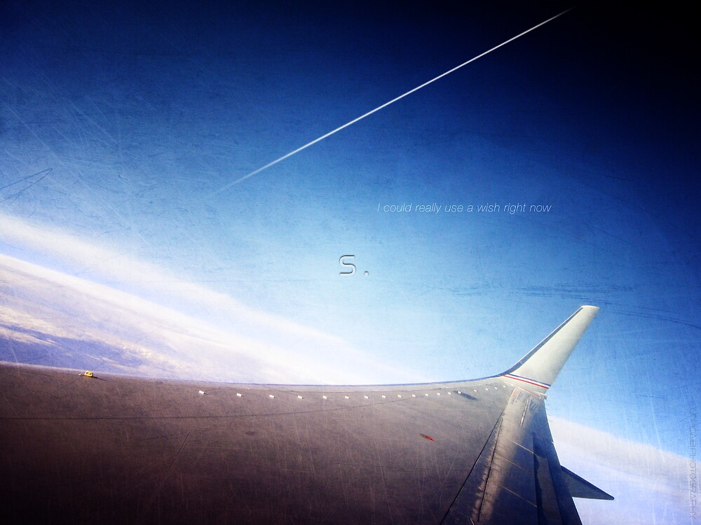 Can we pretend that airplanes in the night sky are like shooting stars by S .