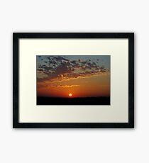 Sunrise July 6, 2010 Framed Print