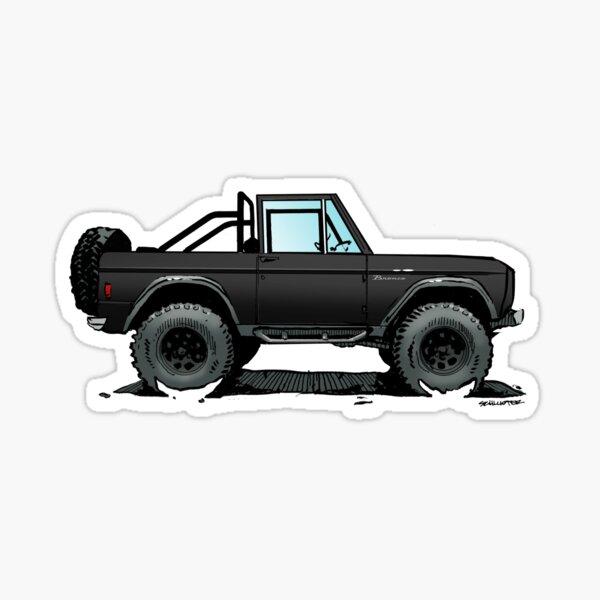 Bronco - Topless Black Sticker