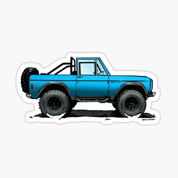 Bronco - Topless Blue Sticker