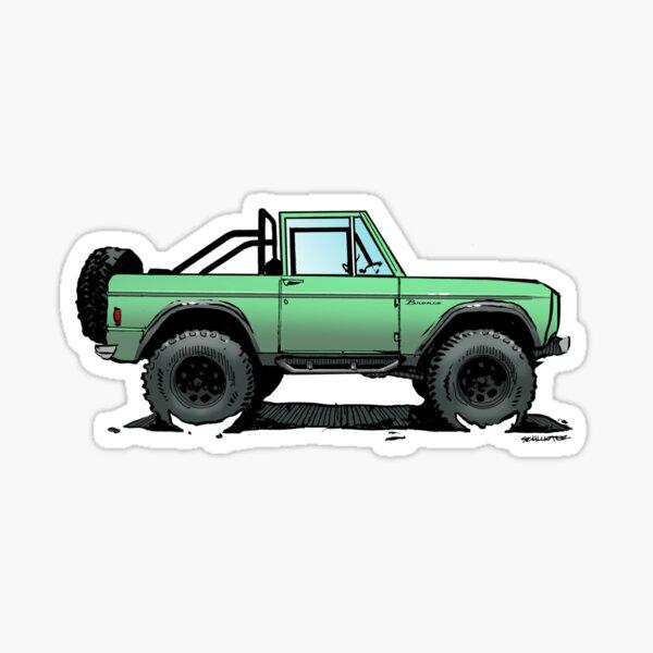 Bronco - Topless Mint Sticker