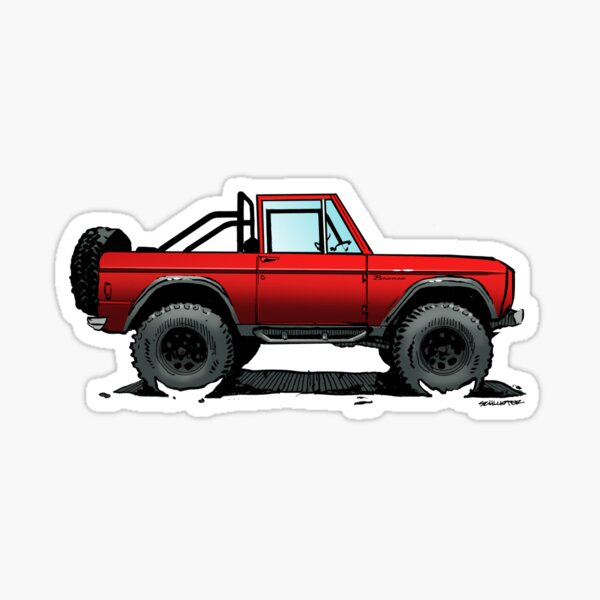 Bronco - Topless Red Sticker
