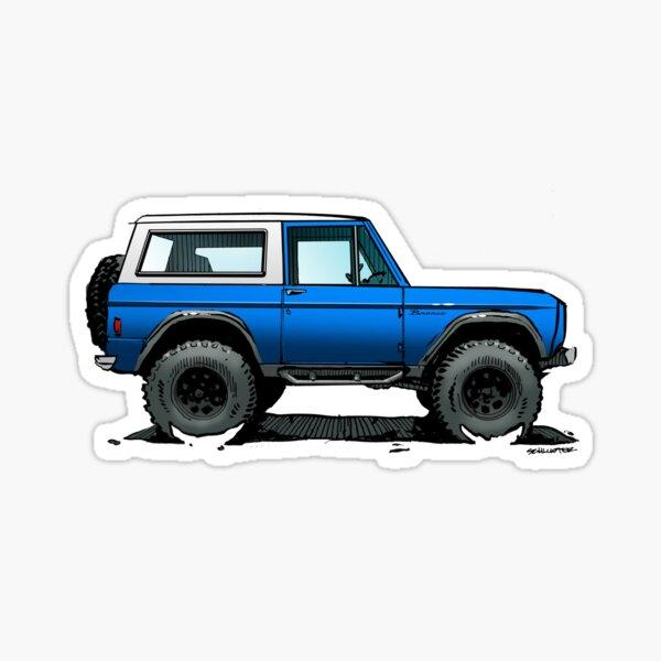 Bronco - X-Cab Blue Sticker