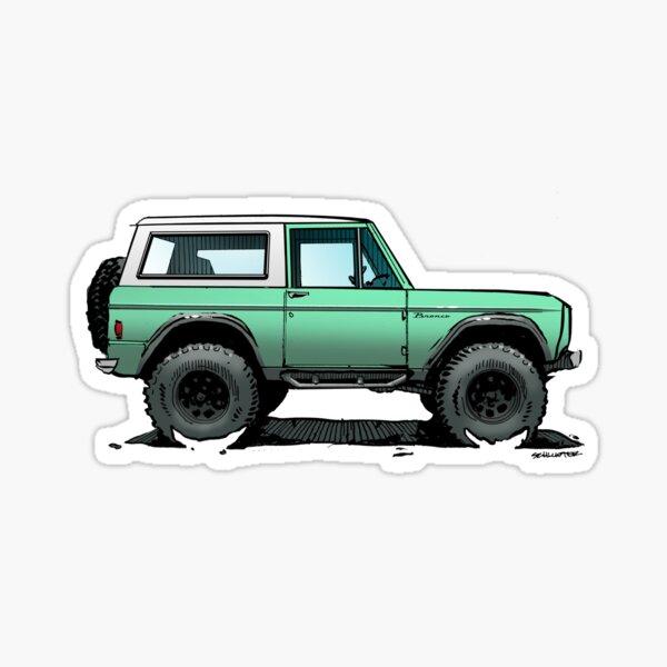 Bronco - X-Cab Mint Sticker