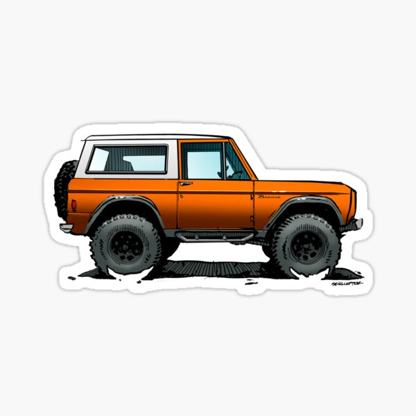 Bronco - X-Cab Orange Sticker