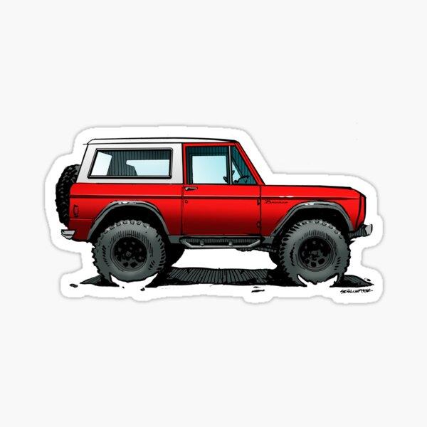 Bronco - X-Cab Red Sticker