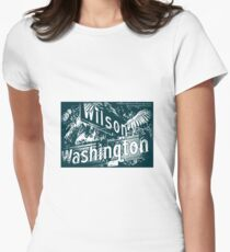 Wilson Avenue & Washington Boulevard1, Pasadena, CA by MWP Fitted T-Shirt