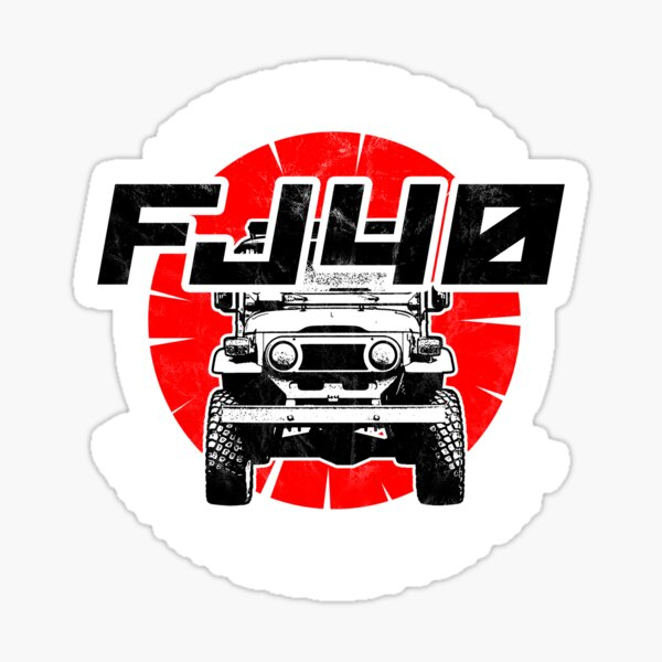 I worked so hard so my FJ40 | FJ40 T-shirt Sticker