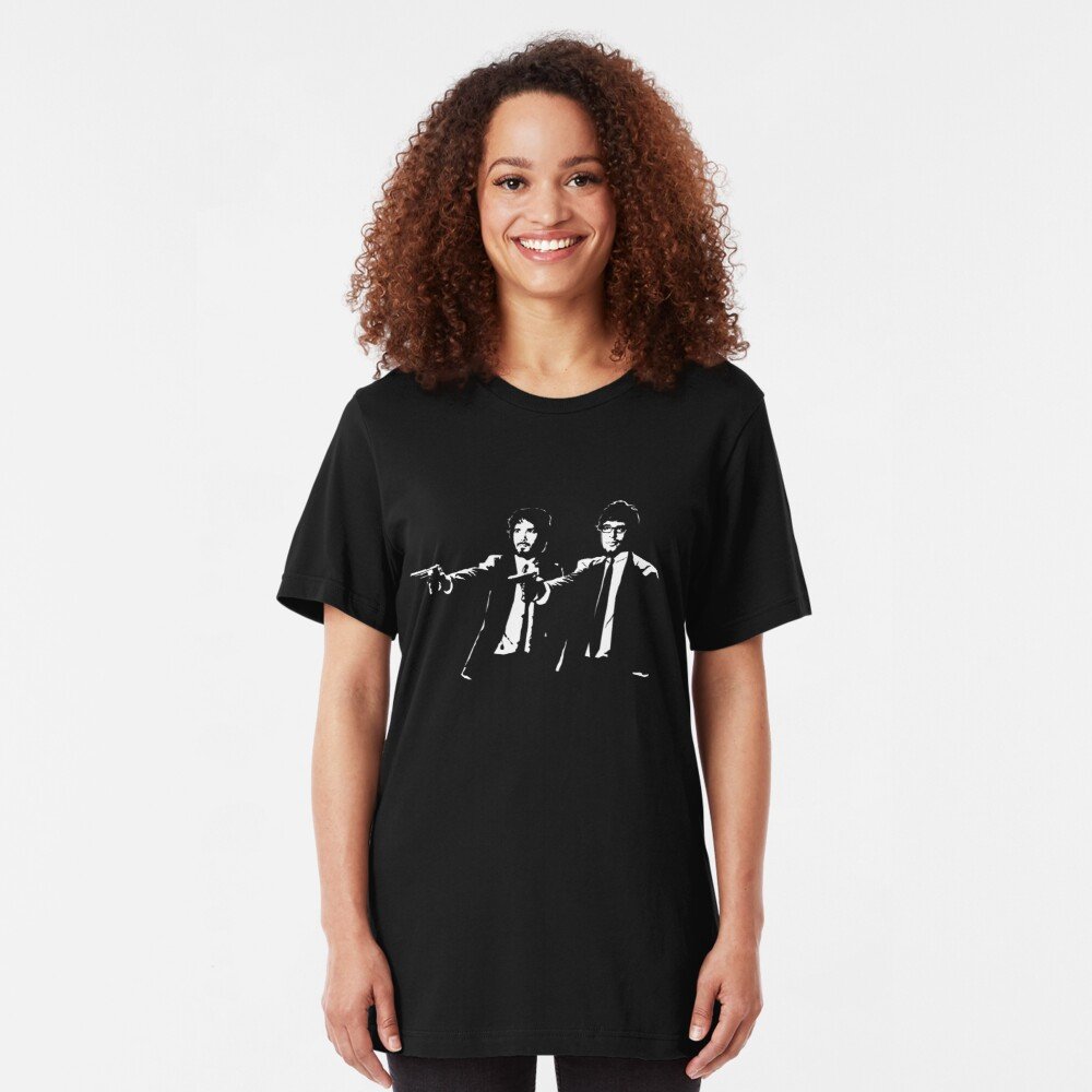 Flight of the Fiction ( T SHIRT VERSION OF DESIGN ) Slim Fit T-Shirt