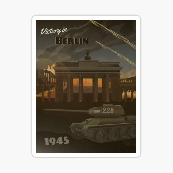 Berlin 1945 - Brandenburg Gate Travel Poster Sticker