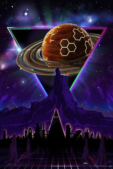 Die Zukunft beschwören - Synthwave Blade Runner Future von forge22