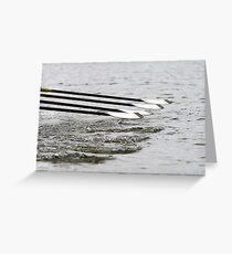 Feathering the oars Greeting Card