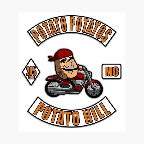 Potato Potatos MC - 3 Piece Motorcycle Club Patch Photographic Print