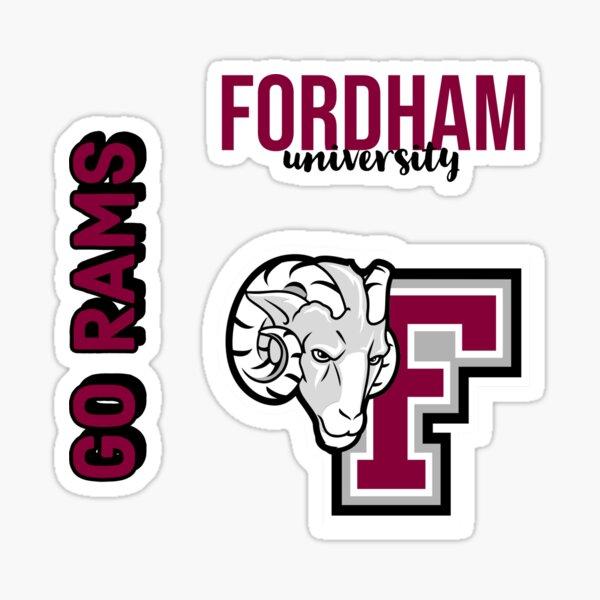 Fordham University FU Rams NCAA Vinyl Decal Laptop Water Bottle Car Scrapbook 70s Name Sticker