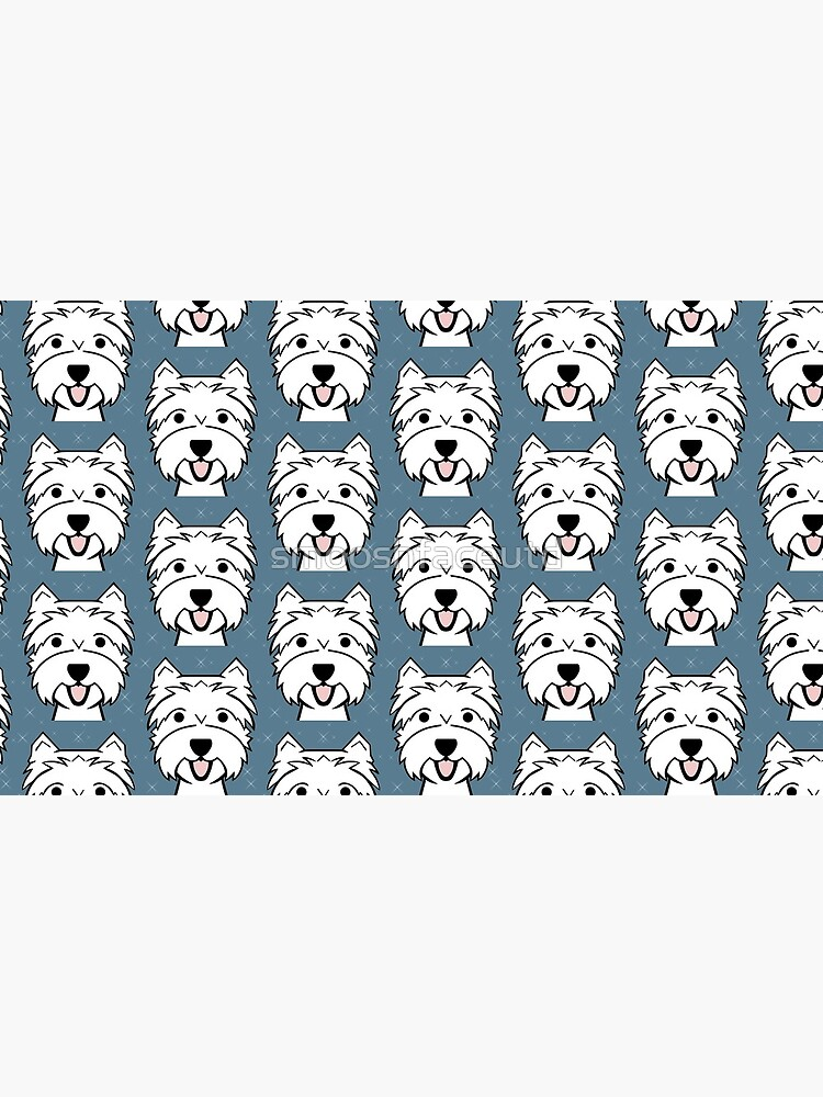 West Highland Terrier - Westies - Westie dogs - blue by smooshfaceutd