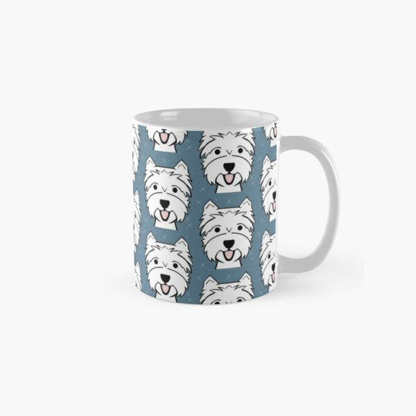 West Highland Terrier - Westies - Westie dogs - blue Classic Mug