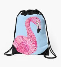 Flamingo Totem (hellblauer Hintergrund) Turnbeutel