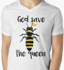 God Save the Queen Bees Men's V-Neck T-Shirt