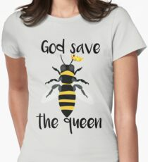 God Save the Queen Bees Women's Fitted T-Shirt