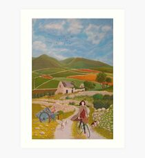 Rosie McCann Mourne Mountains scene Art Print