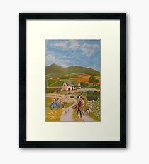 Rosie McCann Mourne Mountains scene Framed Print