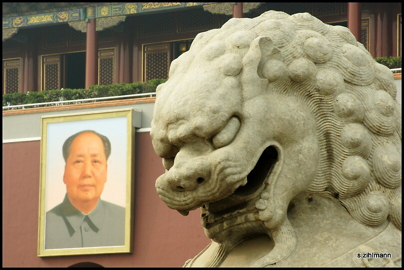 Chairman Mao and the Tiger by qishiwen