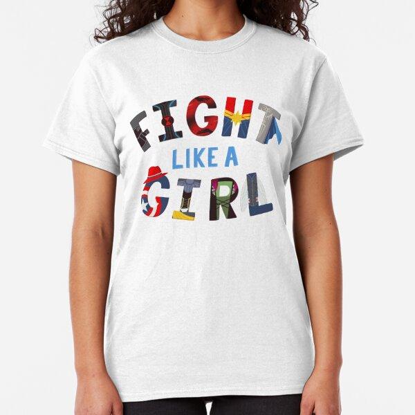 Fight Like a Girl Superheroes Classic T-Shirt
