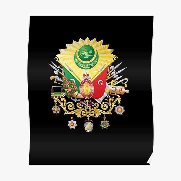 Ottoman Empire Turkish History Historic Turkey Flag  Poster