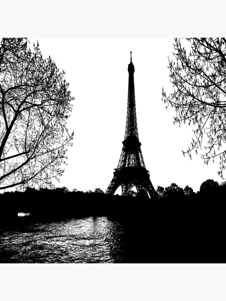 Eiffel Tower Paris Black And White Drawing Tote Bag By Chantal15 Redbubble