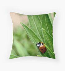 A Ladybug Sleeps Throw Pillow