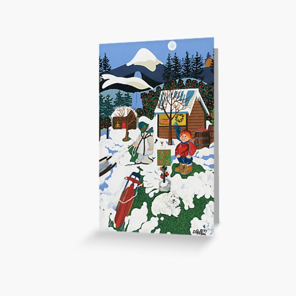 """""""Save On Holly"""" greeting card Greeting Card"""