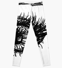 #Eye, #Eyebrow, #Sketch, #Eyelash, illustration, chalk out, scribble, design, art, graffiti, abstract Leggings