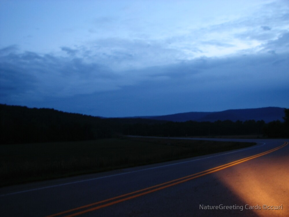 The Final Hour, on a dark highway....... by NatureGreeting Cards ©ccwri