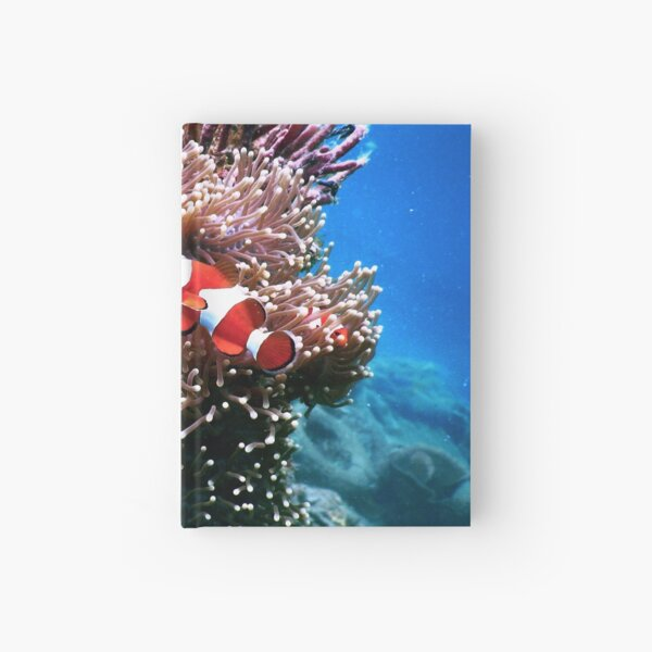 Tropical Undersea Anemone Sea Life Hardcover Journal