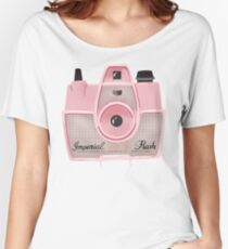 Vintage Camera - Pink Women's Relaxed Fit T-Shirt