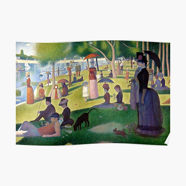 "Georges Seurat ""A Sunday Afternoon on the Island of La Grande Jatte"" Poster"