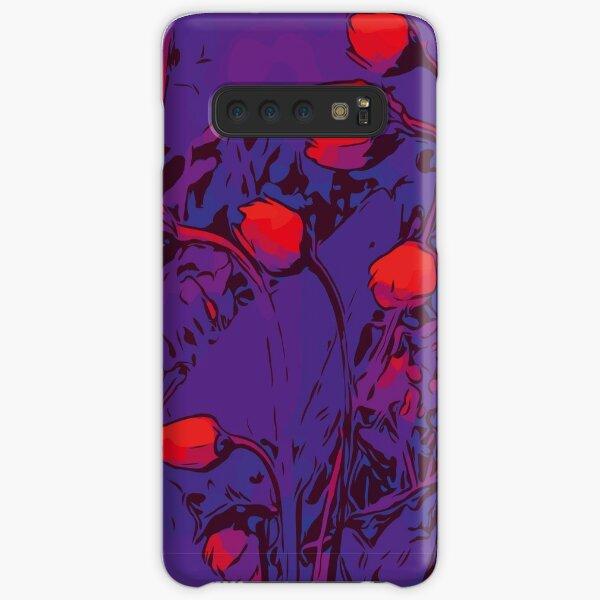 Gänseblümchen rot / lila Blumenkunst Samsung Galaxy Leichte Hülle